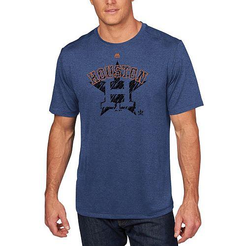 Men's Majestic Navy Houston Astros Razoredge T-Shirt