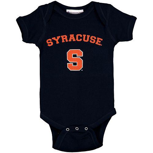 Infant Navy Syracuse Orange Arch & Logo Bodysuit