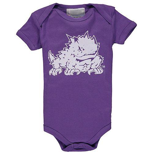 Infant Purple TCU Horned Frogs Big Logo Bodysuit