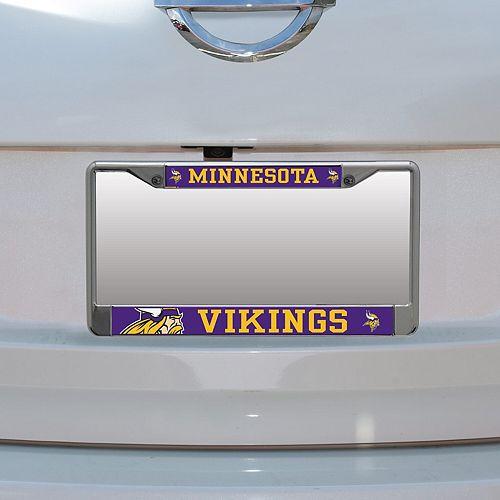 Minnesota Vikings Small Over Large Mega License Plate Frame