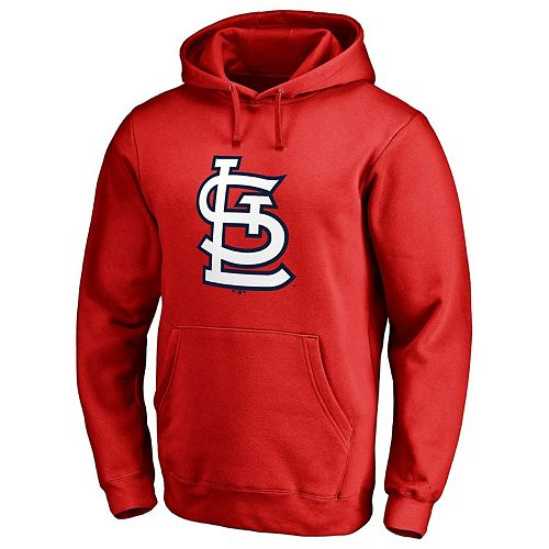 Men's Fanatics Branded Red St. Louis Cardinals Primary Logo Pullover Hoodie