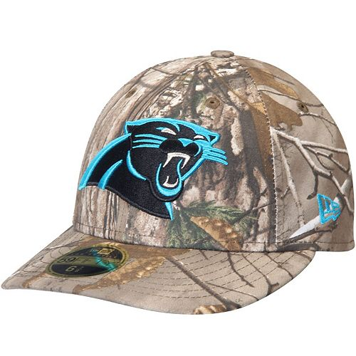 Men's New Era Realtree Camo Carolina Panthers Low Profile 59FIFTY Hat