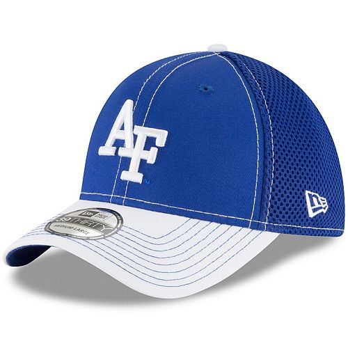 Men's New Era Royal/White Air Force Falcons Team Front Logo Neo 39THIRTY Flex Hat