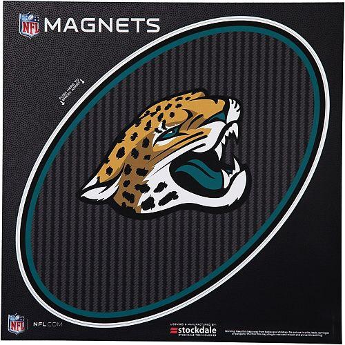 """Jacksonville Jaguars Carbon 12"""" x 12"""" Oval Full Color Magnet"""