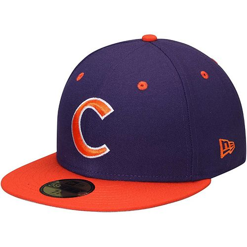 New Era Clemson Tigers 59FIFTY Basic Fitted Hat - Purple/Orange