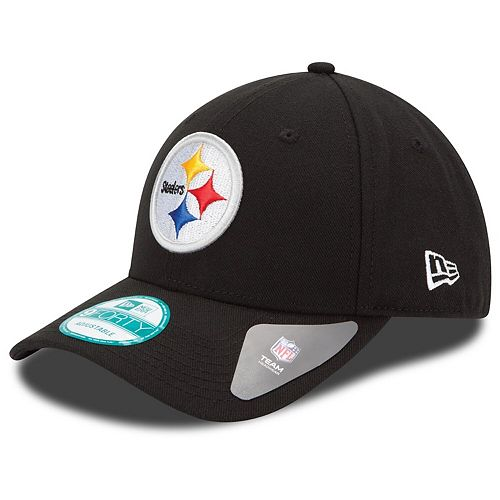 Youth New Era Black Pittsburgh Steelers League 9FORTY Adjustable Hat