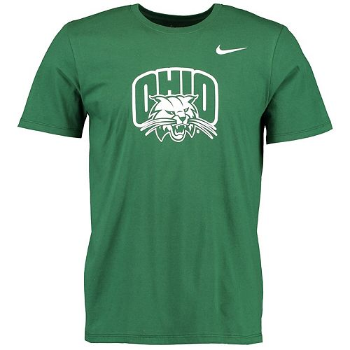 Men's Nike Green Ohio Bobcats Big Logo T-Shirt