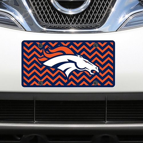 Denver Broncos Chevron Acrylic Laser Cut Plate
