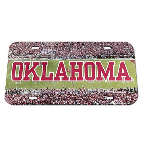 WinCraft Oklahoma Sooners Stadium Crystal Mirror License Plate