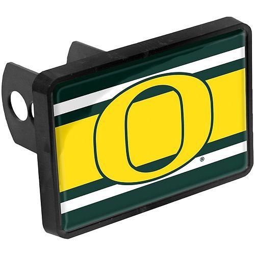 """Oregon Ducks Super Stripe 1.25"""" x 2"""" Universal Plastic Hitch Cover"""