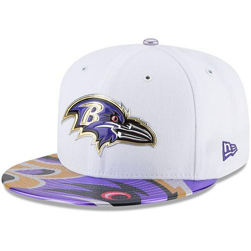 Men's New Era White Baltimore Ravens 2017 NFL Draft Official On Stage 59FIFTY Fitted Hat