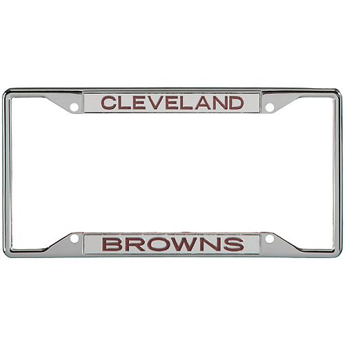 Cleveland Browns Metal Frame Acrylic Inlaid Mirror License Plate Frame