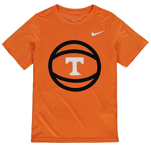 Youth Nike Tennessee Orange Tennessee Volunteers Basketball and Logo Performance T-Shirt