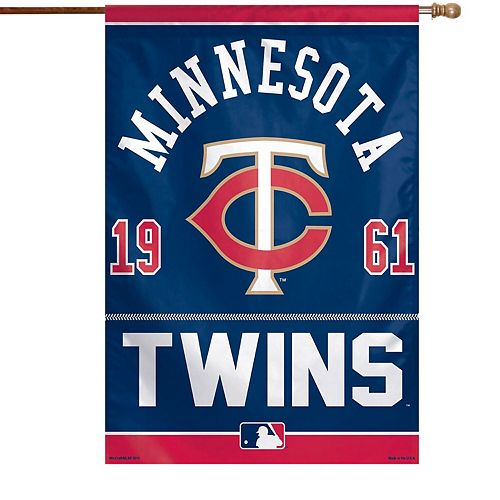 "WinCraft Minnesota Twins 27"" x 37"" Vertical Single-Sided Flag"