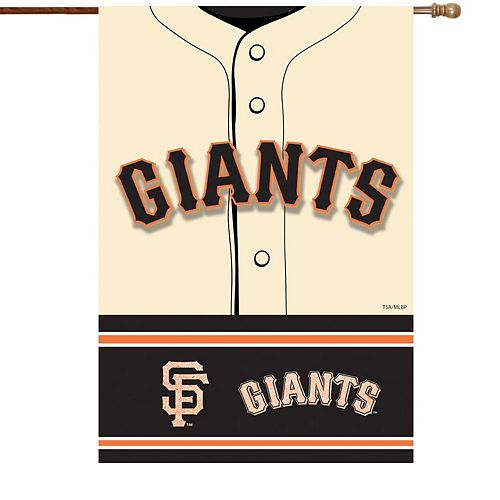 "San Francisco Giants 29"" x 43"" Double-Sided Jersey Foil House Flag"