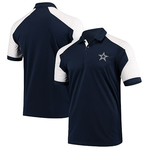 Dallas Cowboys Antigua Century Raglan Polo - Navy/White