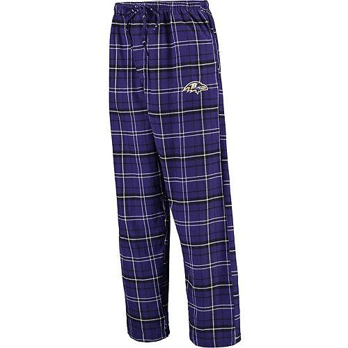 Men's Concepts Sport Purple Baltimore Ravens Ultimate Plaid Flannel Pajama Pants