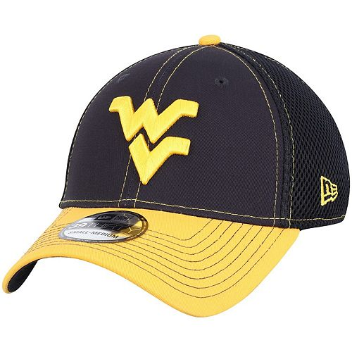 Men's New Era Navy/Gold West Virginia Mountaineers Team Front Logo Neo 39THIRTY Flex Hat