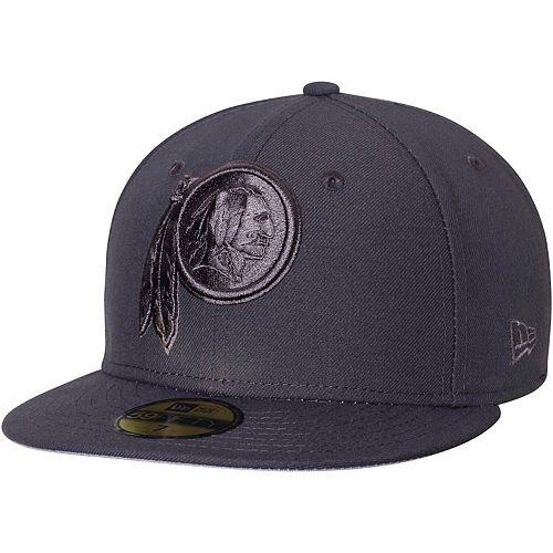 Men's New Era Graphite Washington Redskins Tonal League Basic 59FIFTY Fitted Hat