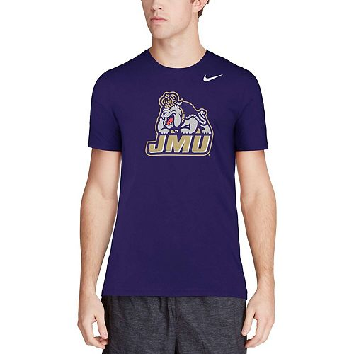 Men's Nike Purple James Madison Dukes Big Logo T-Shirt
