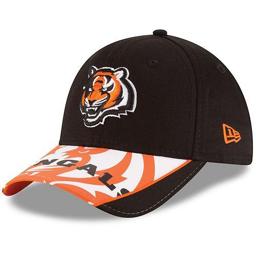 Men's New Era Orange Cincinnati Bengals Logo Scramble 9FORTY Adjustable Hat