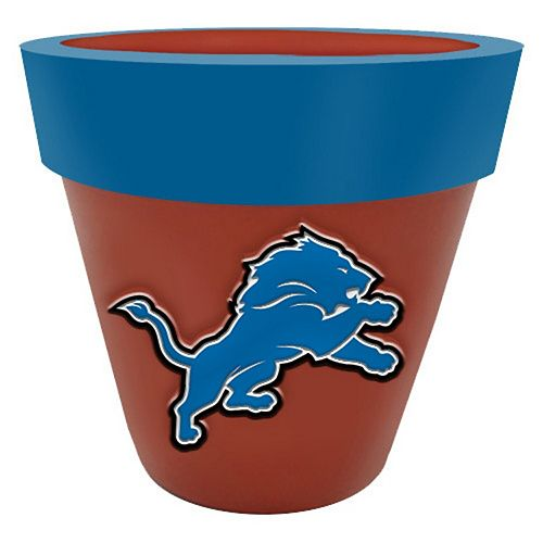 Detroit Lions Team Planter Flower Pot