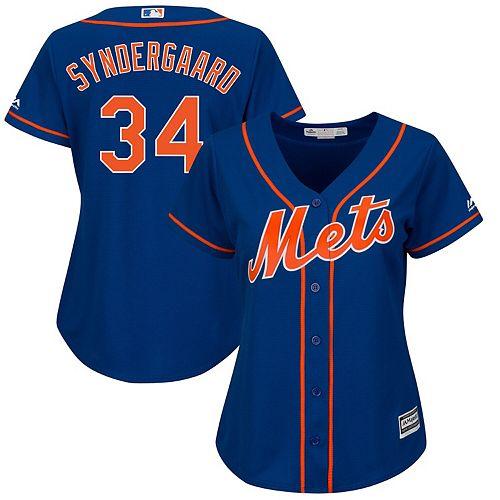 Women's Majestic Noah Syndergaard Royal New York Mets Plus Size Alternate Cool Base Player Jersey