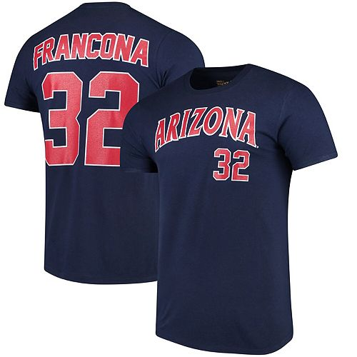 Men's Original Retro Brand Terry Francona Navy Arizona Wildcats Name & Number T-Shirt