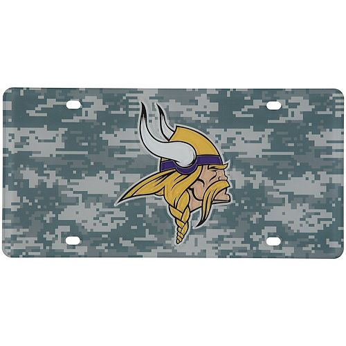 Minnesota Vikings Digi Camo Laser Cut License Plate