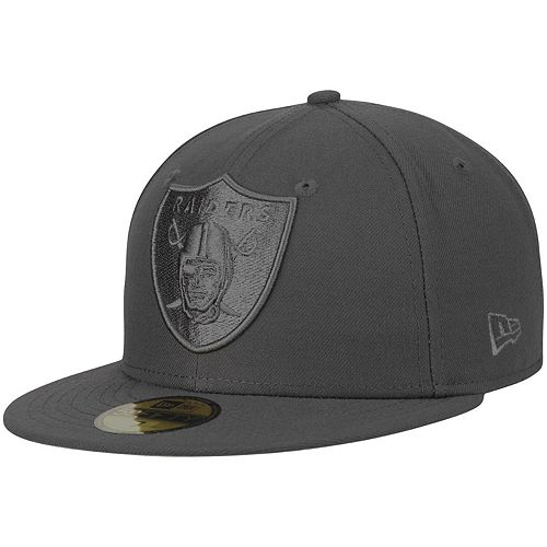 Men's New Era Graphite Oakland Raiders Tonal League Basic 59FIFTY Fitted Hat