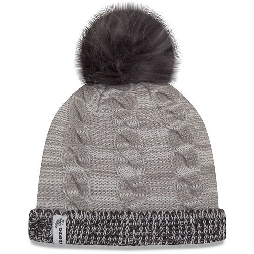 Women's New Era Gray/Graphite Washington Redskins Cozy Team Cuffed Knit Hat
