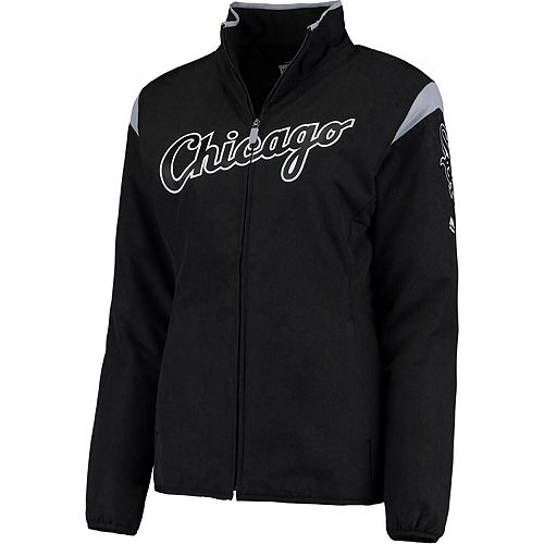 Women's Majestic Black Chicago White Sox On-Field Thermal Jacket