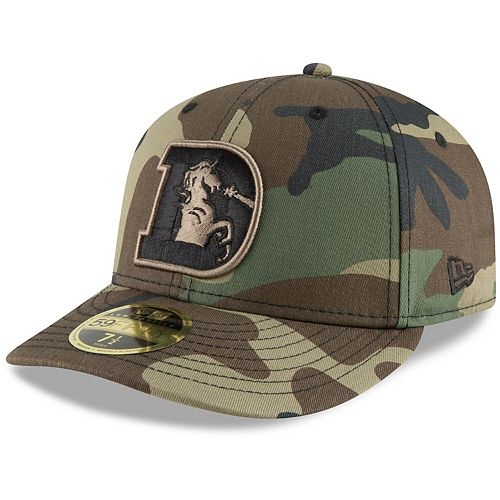 Men's New Era Camo Denver Broncos Team Low Profile 59FIFTY Fitted Hat