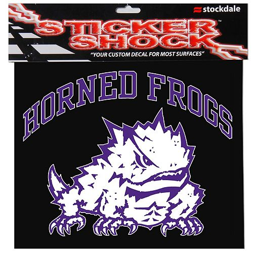 """TCU Horned Frogs 12"""" x 12"""" Arched Logo Decal"""