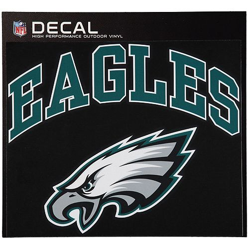 "Philadelphia Eagles 12"" x 12"" Arched Logo Decal"