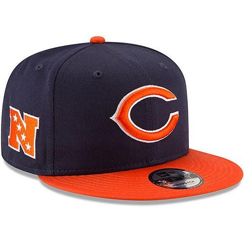 Youth New Era Navy/Orange Chicago Bears Baycik 9FIFTY Snapback Adjustable Hat