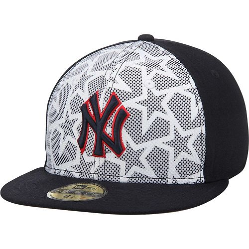Men's New Era White/Navy New York Yankees Stars & Stripes 59FIFTY Fitted Hat
