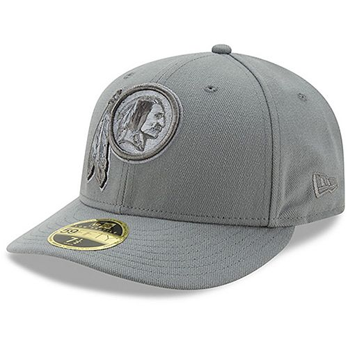 Men's New Era Washington Redskins Storm Gray League Basic Low Profile 59FIFTY Structured Hat