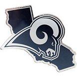 Los Angeles Rams State Shape Acrylic Metallic Auto Emblem
