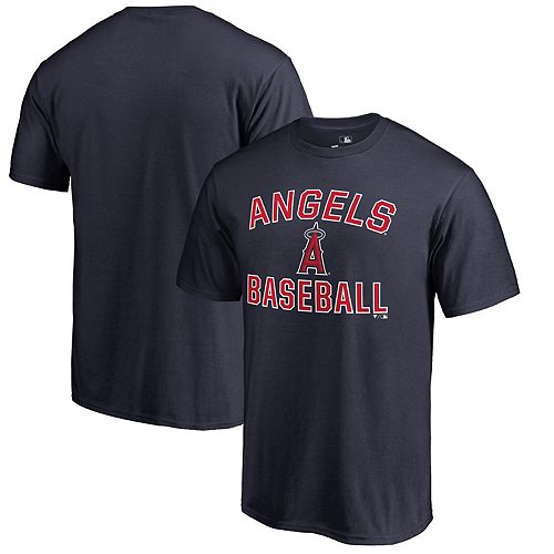 Men's Navy Los Angeles Angels Victory Arch T-Shirt