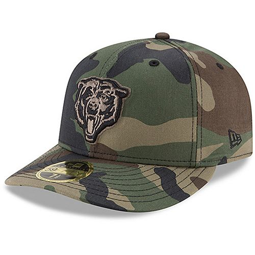 Men's New Era Chicago Bears Woodland Camo Low Profile 59FIFTY Fitted Hat