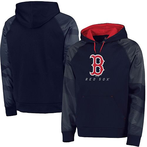 Men's Majestic Navy Boston Red Sox Big & Tall New Armour Performance Hoodie
