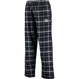 Men's Concepts Sport Navy/Gray New York Yankees Team Ultimate Plaid Flannel Pants