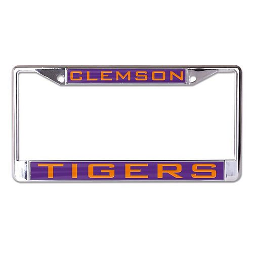 WinCraft Clemson Tigers Inlaid Metal License Plate Frame