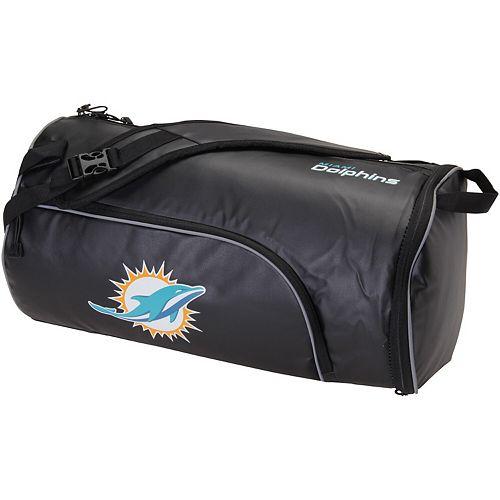 The Northwest Company Black Miami Dolphins Squadron Duffel Bag