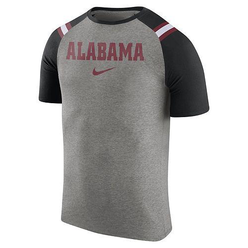 Men's Nike Charcoal Alabama Crimson Tide Enzyme Washed Shoulder Stripe T-Shirt