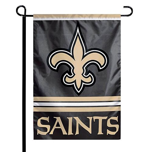 """WinCraft New Orleans Saints 12"""" x 18"""" Double-Sided Garden Flag"""