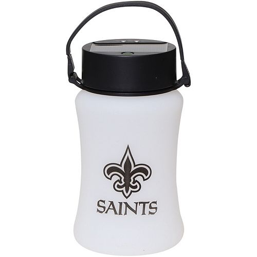 New Orleans Saints Frosted Silicone Solar Lantern