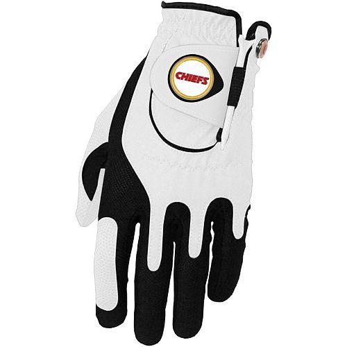 Men's White Kansas City Chiefs Left Hand Golf Glove & Ball Marker Set