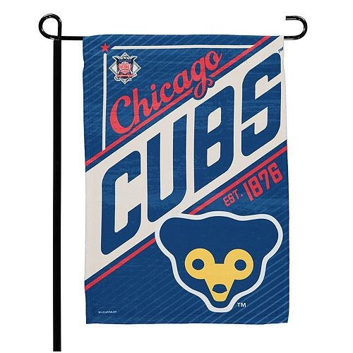 """WinCraft Chicago Cubs 12.5"""" x 18"""" Vintage Double-Sided Garden Flag"""